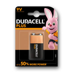 Duracell Plus Power 9V PP3 6LR61 Battery | 1 Pack