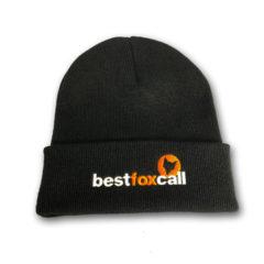 Black BestFoxCall Cuffed Beanie